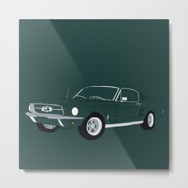 1968 Ford Mustang GT Metal Print