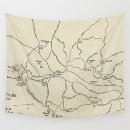 Vintage Mount Monadnock Trail Map (1910) Wall Tapestry