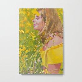 Vanessa In The Mustards Metal Print