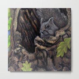 Watcher in the Oak Tree Metal Print