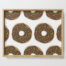 Delightful chocolate sprinkle Donuts Serving Tray