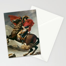 Napoleon Crossing The Alps Stationery Cards