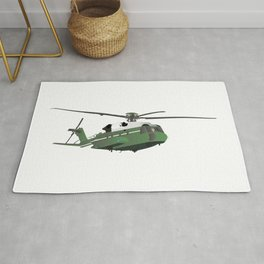 Green American Helicopter Rug