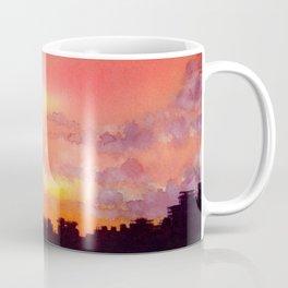 Minsk sunset skyline in watercolours Coffee Mug