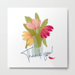 Thank You Tulips Metal Print