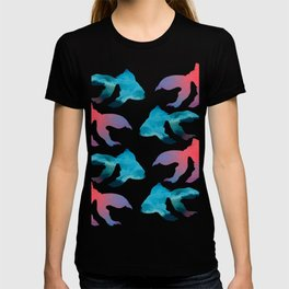 Pattern Oil Painting Abstract Tropical Fish T-shirt