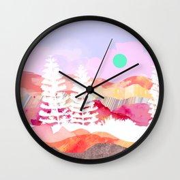 Ibiza Abstract Landscape Wall Clock