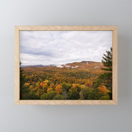 Fall Mountain Scene Framed Mini Art Print