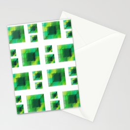 Patchy green Stationery Cards