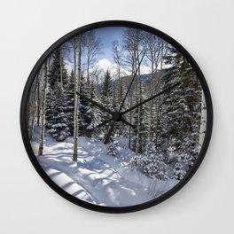 Winter forest - Carol Highsmith Wall Clock