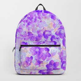 Purple Spring Flowers Backpack