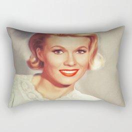 Pat Priest, Vintage Actress Rectangular Pillow