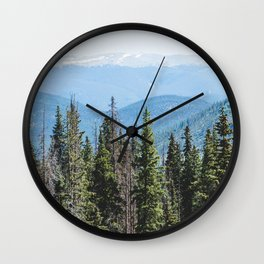 Rocky Mountain Adventure - Colorado Nature Photography Wall Clock