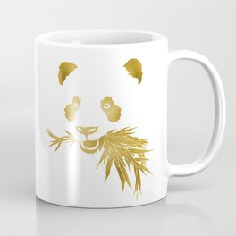 Panda Bear & Bamboo - Gold Coffee Mug