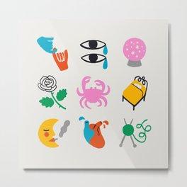 Cancer Emoji Metal Print