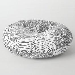 Pikes Peak Topo Map Floor Pillow