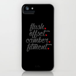 flush offset camber fitment v4 HQvector iPhone Case