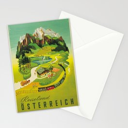 Vintage poster - Austria Stationery Cards