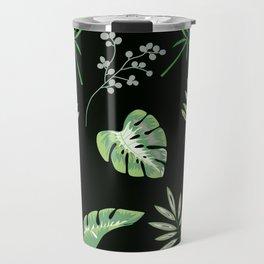 Aromantic Pride Assorted Tropical Leaves Pattern Travel Mug
