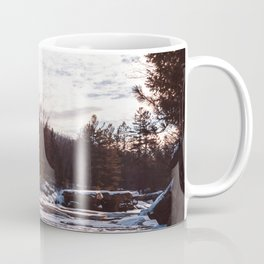Golden Hour on the River in Winter-Landscape Photography in Minnesota Coffee Mug