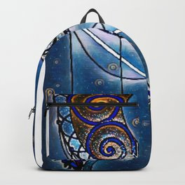 Moon swirl dreamcatcher Backpack