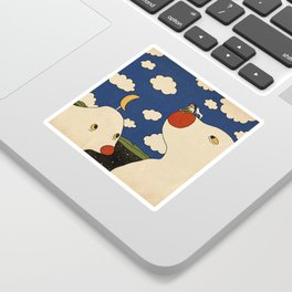 Surfing the Earth Sticker