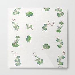 Eucalyptus Pattern Watercolor  Metal Print