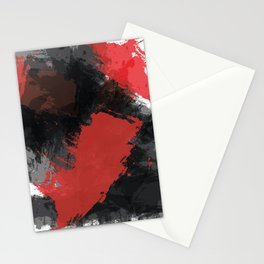 Red and Black Paint Splash Stationery Cards