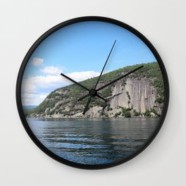 Summer's End: Roger's Rock on Lake George Wall Clock