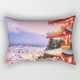 Spring on the Mount Fuji Rectangular Pillow
