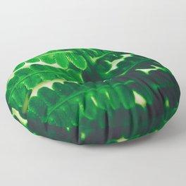 Electric Green Fern Floor Pillow