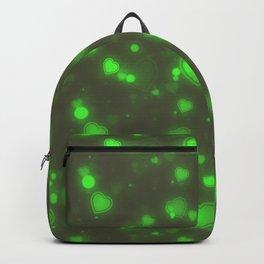 Neon Green Bubble Hearts Backpack