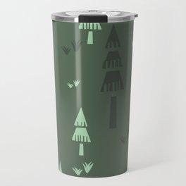 Green Forest Trees Travel Mug