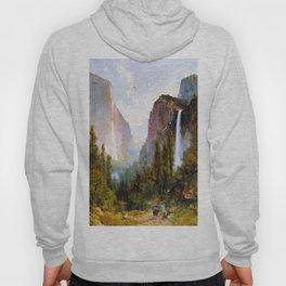 Bridal Veil Fall Yosemite Valley 1892 By Thomas Hill | Reproduction Hoody