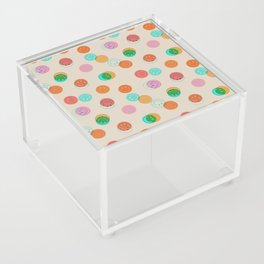 Smiley Face Stamp Print Acrylic Box