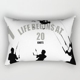 Life Begins At 20 Knots For Kitesurfers Rectangular Pillow