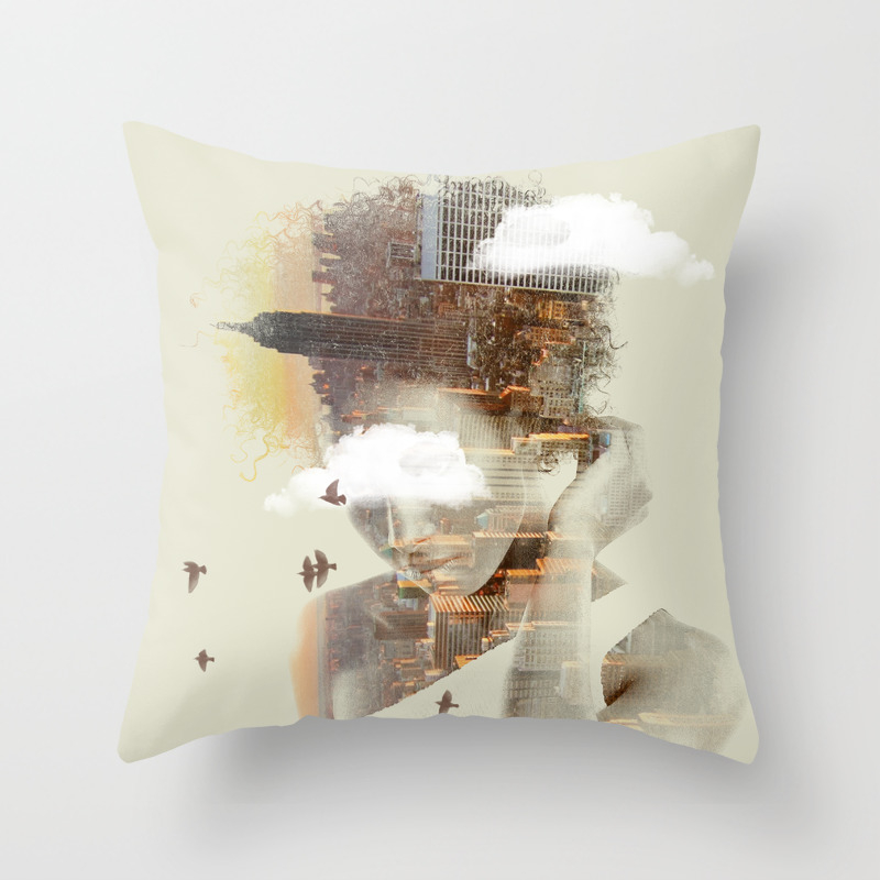 New York City Dreaming Throw Pillow by Nivpezz PLW8050957