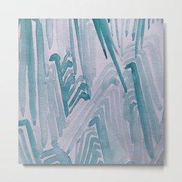 Watercolor Waves Metal Print