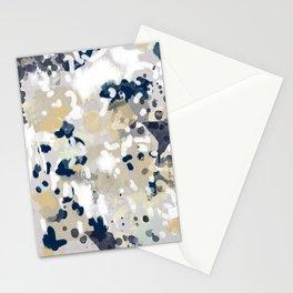 Nigel - Abstract art painting brushstrokes free spirt dorm college masculine feminine art print cali Stationery Cards
