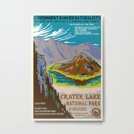 Crater Lake National Park Vintage Travel Poster Metal Print
