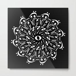 Musical mandala - inverted Metal Print