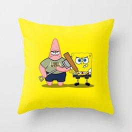Sponge of the Dead Throw Pillow