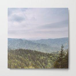 Blue Smoke Mountains Metal Print