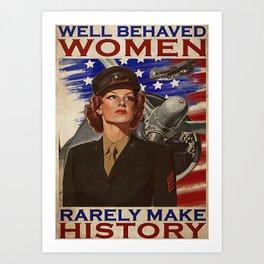 Pilot Job Jobs American Female Pilot Make History Art Print
