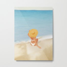 Beach Morning Metal Print