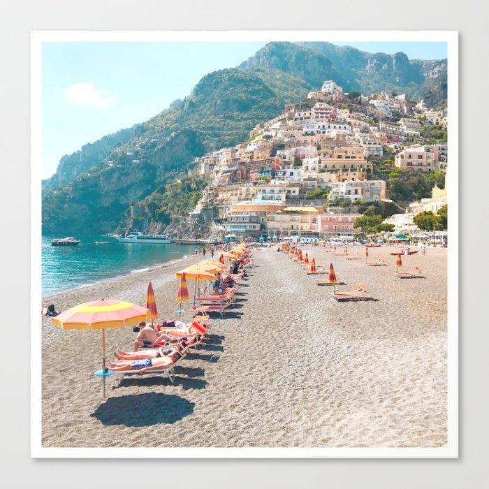 perfect beach day - Positano, Italy Leinwanddruck