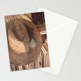 Panama Hat in Palm-Roofed Hut Stationery Cards