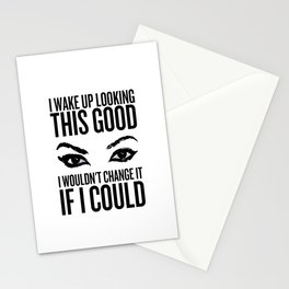 Wake Up, Flawless (White) Stationery Cards