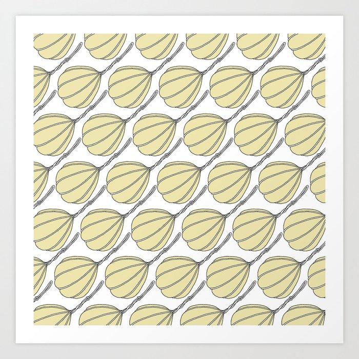 Provolone (cheese pattern) Art Print