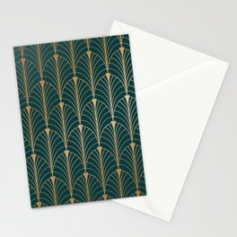 Hidden Sapphire Gold Pattern Stationery Cards